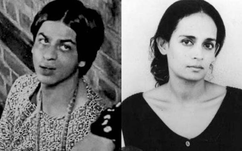 Shah Rukh Khan in a still from In Which Annie Gives It Those Ones (L), a young Arundhati Roy (R)