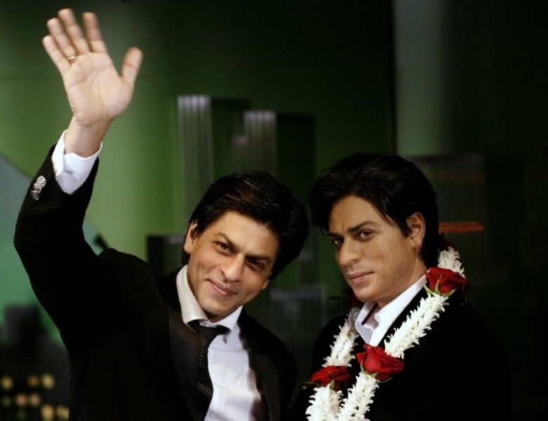 Shah Rukh Khan With His Wax Statue At London's Madame Tussaud's Museum