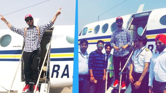 Diljit Dosanjh Coming Out Of A Jet