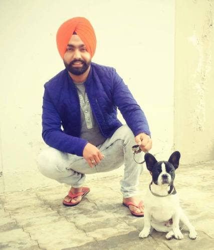 Ammy Virk with his pet dog, Boss.