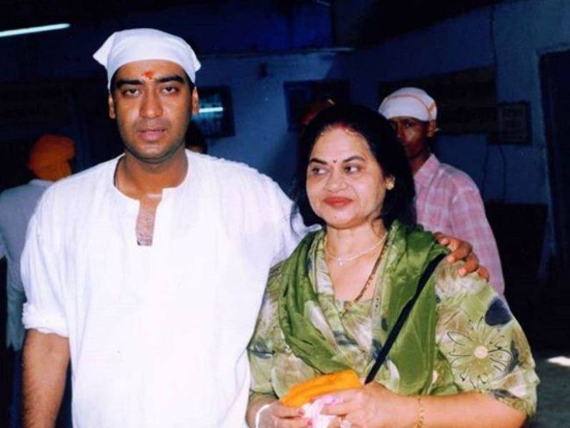 Ajay Devgn With His Mother