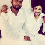 Zuber K. Khan with his brother
