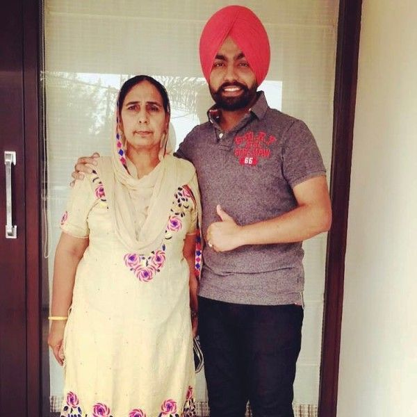 Ammy Virk with his mother