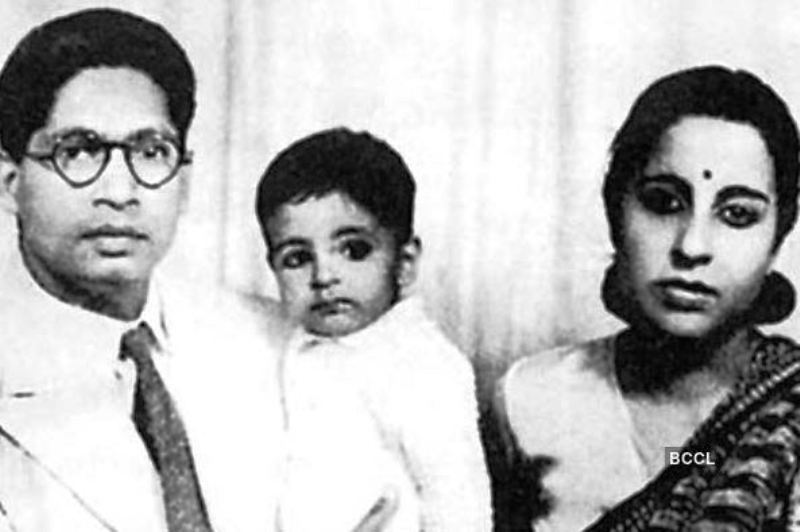 Baby Amitabh Bachchan with his parents
