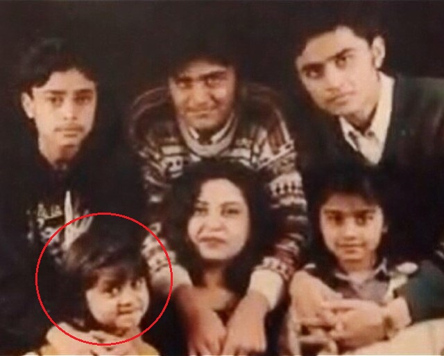 Zoya Nasir with her mother and siblings
